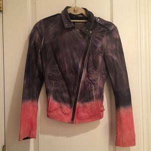 Muubaa Ombre Leather Biker Jacket